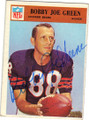 BOBBY JOE GREEN CHICAGO BEARS AUTOGRAPHED VINTAGE FOOTBALL CARD #41615D