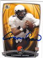 CONNOR SHAW CLEVELAND BROWNS AUTOGRAPHED ROOKIE FOOTBALL CARD #41715F