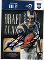 STEDMAN BAILEY ST LOUIS RAMS AUTOGRAPHED ROOKIE FOOTBALL CARD #41915A