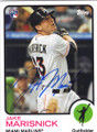 JAKE MARISNICK MIAMI MARLINS AUTOGRAPHED ROOKIE BASEBALL CARD #41915C