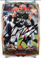 JOE THOMAS CLEVELAND BROWNS AUTOGRAPHED FOOTBALL CARD #42015A