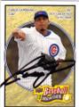 CARLOS ZAMBRANO CHICAGO CUBS AUTOGRAPHED BASEBALL CARD #42015F