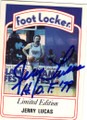 JERRY LUCAS SENIOR SLAM AUTOGRAPHED BASKETBALL CARD #42115D