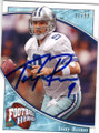 TONY ROMO DALLAS COWBOYS AUTOGRAPHED & NUMBERED FOOTBALL CARD #42115E