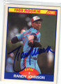 RANDY JOHNSON MONTREAL EXPOS AUTOGRAPHED ROOKIE BASEBALL CARD #42115J