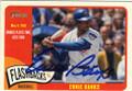 ERNIE BANKS CHICAGO CUBS AUTOGRAPHED BASEBALL CARD #42215D