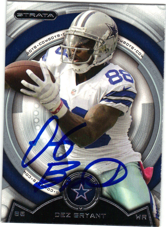 Dez Bryant Dallas Cowboys Autographed Football Card 42215f
