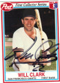 WILL CLARK SAN FRANCISCO GIANTS AUTOGRAPHED BASEBALL CARD #42215P