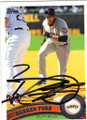 DARREN FORD SAN FRANCISCO GIANTS AUTOGRAPHED BASEBALL CARD #42315F