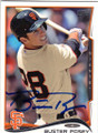 BUSTER POSEY SAN FRANCISCO GIANTS AUTOGRAPHED BASEBALL CARD #42415D