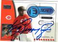 KEN GRIFFEY JR CINCINNATI REDS AUTOGRAPHED BASEBALL CARD #42415G
