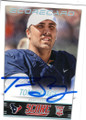 TOM SAVAGE HOUSTON TEXANS AUTOGRAPHED ROOKIE FOOTBALL CARD #42515B