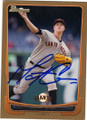 MATT CAIN SAN FRANCISCO GIANTS AUTOGRAPHED BASEBALL CARD #42515C