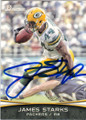 JAMES STARKS GREEN BAY PACKERS AUTOGRAPHED FOOTBALL CARD #42515D
