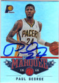 PAUL GEORGE INDIANA PACERS AUTOGRAPHED BASKETBALL CARD #42715E