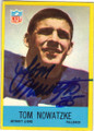 TOM NOWATZKE DETROIT LIONS AUTOGRAPHED VINTAGE FOOTBALL CARD #42815O