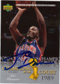 JOE DUMARS DETROIT PISTONS AUTOGRAPHED BASKETBALL CARD #42915i