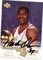 HAKEEM OLAJUWON HOUSTON ROCKETS AUTOGRAPHED BASKETBALL CARD #50515F