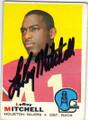 LeROY MITCHELL HOUSTON OILERS AUTOGRAPHED VINTAGE FOOTBALL CARD #50515J