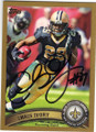 CHRIS IVORY NEW ORLEANS SAINTS AUTOGRAPHED & NUMBERED FOOTBALL CARD #52115F