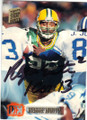 REGGIE WHITE GREEN BAY PACKERS AUTOGRAPHED FOOTBALL CARD #52915B