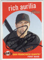 RICH AURILIA SAN FRANCISCO GIANTS AUTOGRAPHED BASEBALL CARD #53015C