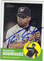 FRANCISCO RODRIGUEZ MILWAUKEE BREWERS AUTOGRAPHED BASEBALL CARD #53015E