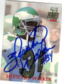HERSCHEL WALKER PHILADELPHIA EAGLES AUTOGRAPHED FOOTBALL CARD #53115D