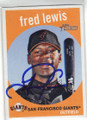 FRED LEWIS SAN FRANCISCO GIANTS AUTOGRAPHED BASEBALL CARD #60115C