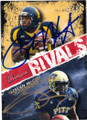 PAT WHITE & LeSEAN McCOY DOUBLE AUTOGRAPHED ROOKIE FOOTBALL CARD #60215B
