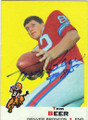 TOM BEER DENVER BRONCOS AUTOGRAPHED VINTAGE FOOTBALL CARD #60315B