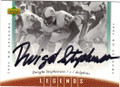 DWIGHT STEPHENSON MIAMI DOLPHINS AUTOGRAPHED FOOTBALL CARD #60315F