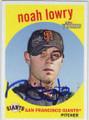NOAH LOWRY SAN FRANCISCO GIANTS AUTOGRAPHED BASEBALL CARD #60315G