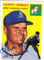 LEROY WHEAT PHILADELPHIA ATHLETICS AUTOGRAPHED BASEBALL CARD #61015B