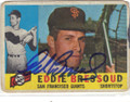 EDDE BRESSOUD SAN FRANCISCO GIANTS AUTOGRAPHED VINTAGE BASEBALL CARD #61015P