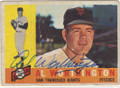 AL WORTHINGTON SAN FRANCISCO GIANTS AUTOGRAPHED VINTAGE BASEBALL CARD #61315H