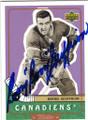 BERNIE GEOFFRION MONTREAL CANADIENS AUTOGRAPHED HOCKEY CARD #61315K
