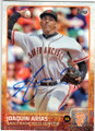 JOAQUIN ARIAS SAN FRANCISCO GIANTS AUTOGRAPHED BASEBALL CARD #61315L