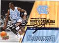 MICHAEL JORDAN NORTH CAROLINA TAR HEELS AUTOGRAPHED BASKETBALL CARD #61615B