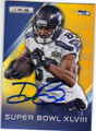 DOUG BALDWIN SEATTLE SEAHAWKS AUTOGRAPHED FOOTBALL CARD #61615F