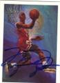 MICHAEL JORDAN CHICAGO BULLS AUTOGRAPHED BASKETBALL CARD #61715D