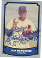 DON NEWCOMBE BROOKLYN DODGERS AUTOGRAPHED BASEBALL CARD #61715E