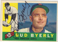 BUD BYERLY SAN FRANCISCO GIANTS AUTOGRAPHED VINTAGE BASEBALL CARD #61715G
