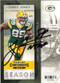 JAMES JONES GREEN BAY PACKERS AUTOGRAPHED FOOTBALL CARD #61715L