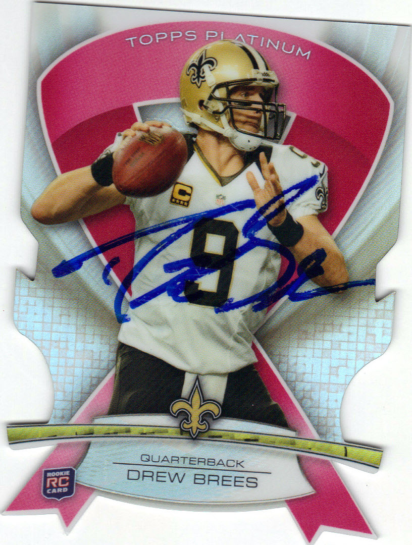 Drew Brees New Orleans Saints Autographed Error Football Card 62115a