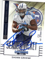 SHONN GREENE TENNESSEE TITANS AUTOGRAPHED FOOTBALL CARD #62115C