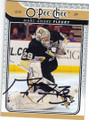 MARC-ANDRE FLEURY PITTSBURGH PENGUINS AUTOGRAPHED HOCKEY CARD #62315C