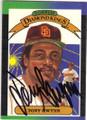 TONY GWYNN SAN DIEGO PADRES AUTOGRAPHED VINTAGE BASEBALL CARD #62315D