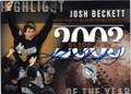 JOSH BECKETT FLORIDA MARLINS AUTOGRAPHED BASEBALL CARD #62315H