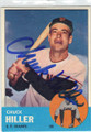 CHUCK HILL SAN FRANCISCO GIANTS AUTOGRAPHED VINTAGE BASEBALL CARD #70115H